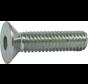 Metaalschroef RVS A2 Platkop 3x10mm