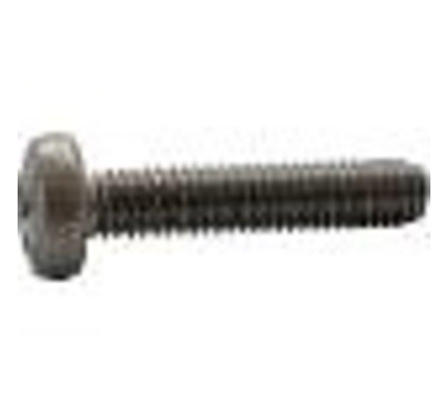 Metaalschroef RVS A2 cilinderkop 6x20mm