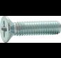 Metaalschroef RVS A2 Platkop 3x16mm