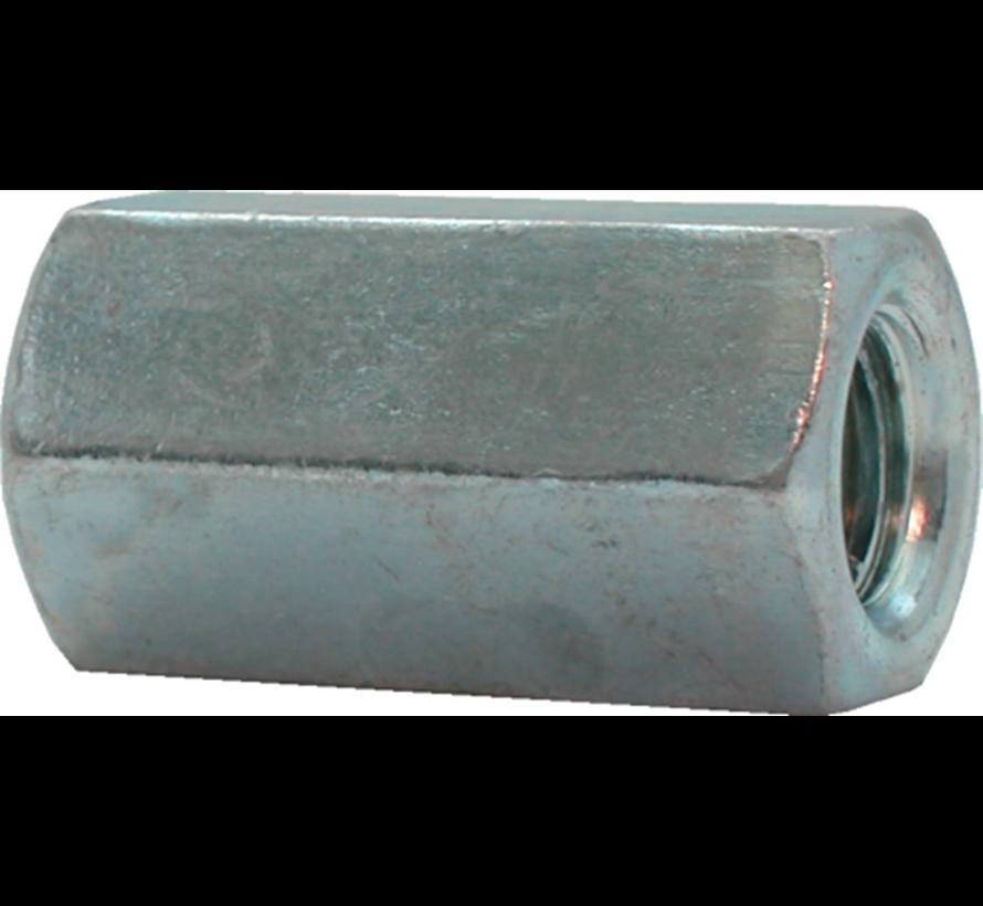 Kelfort™ Verbindingsmoer gegalvaniseerd zeskant  Ø 8mm x 24mm