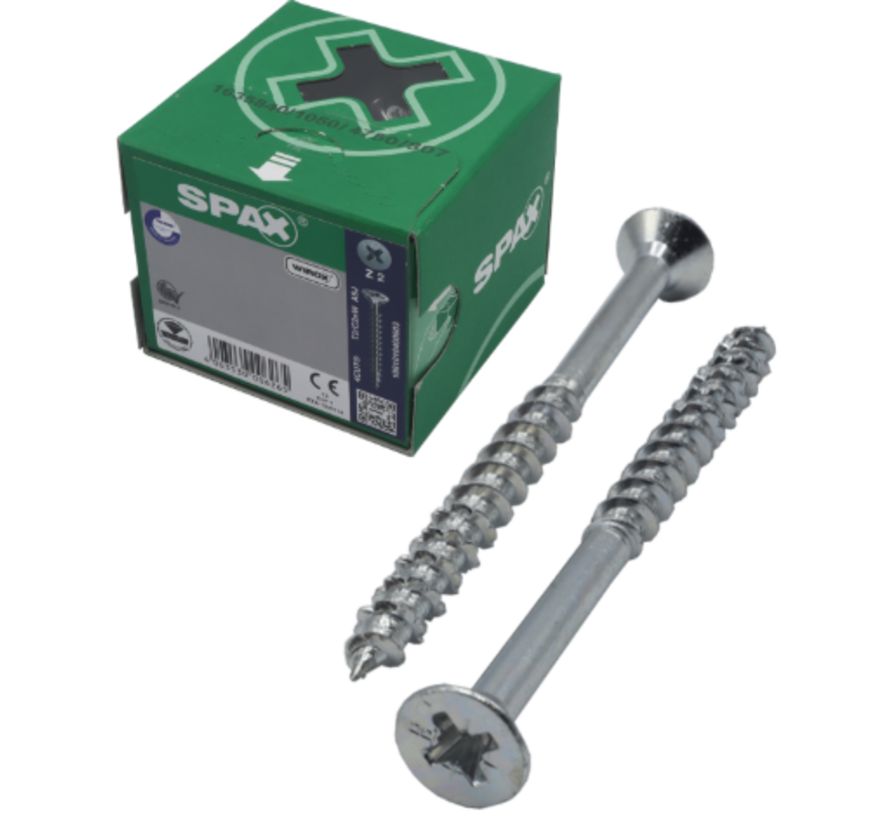 Spax®  WIROX spaanplaatschroef platkop kruiskop  5x90/68 mm