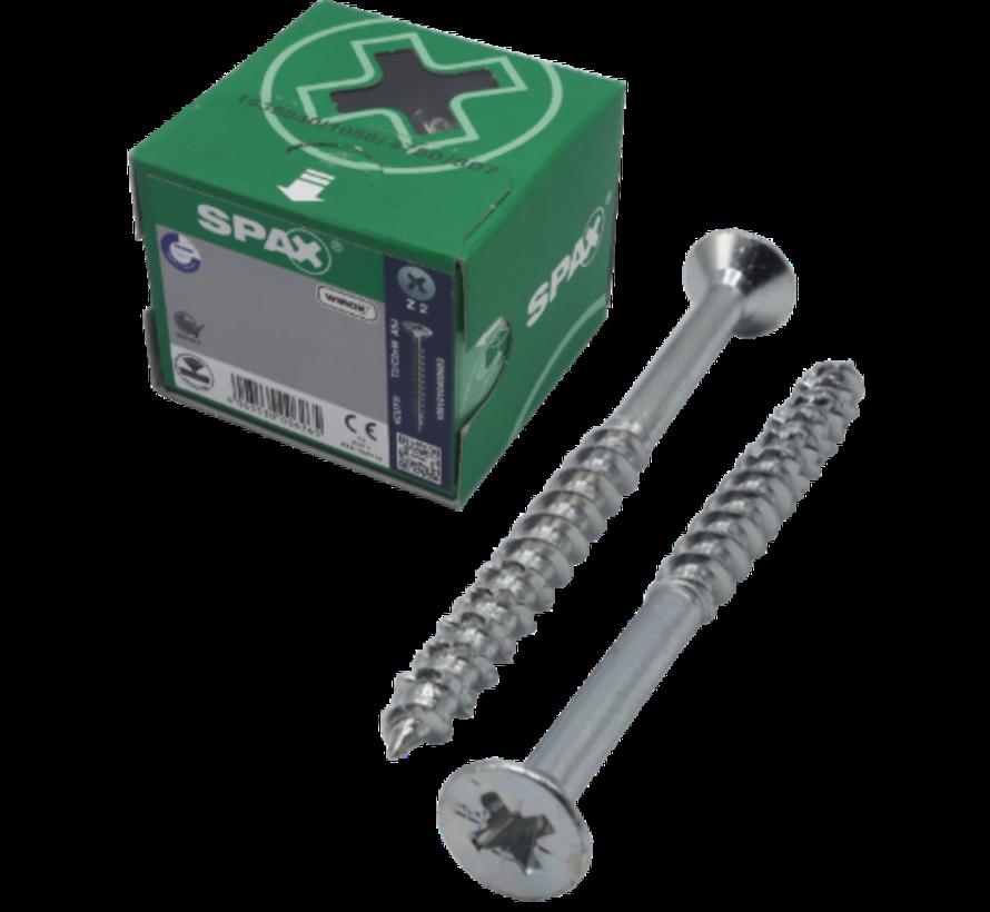 Spax®  WIROX spaanplaatschroef platkop kruiskop  6x80/68 mm