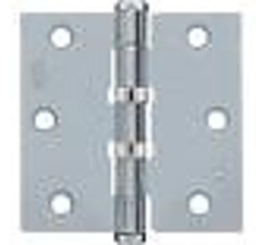 Scharnier gegalvaniseerd  76x76x2.4mm rechthoekig