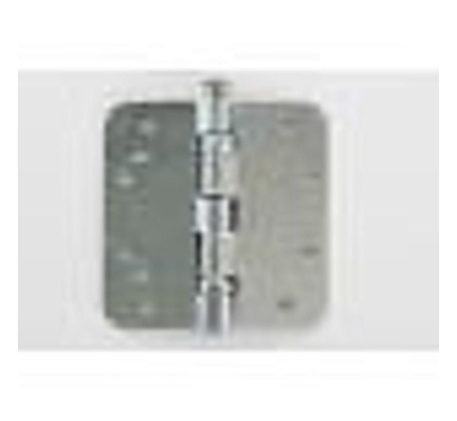 Kogellagerscharnier gegalvaniseerd 89x89x2.5mm afgerond