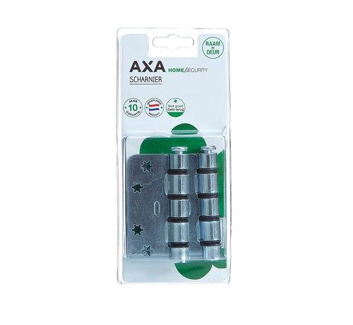 AXA Scharnier easyfix gegalvaniseerd 89x89x3mm afgerond blister 2st