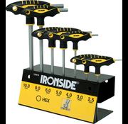 Ironside Ironside stiftsleutelset inbus met t-greep 7-delig