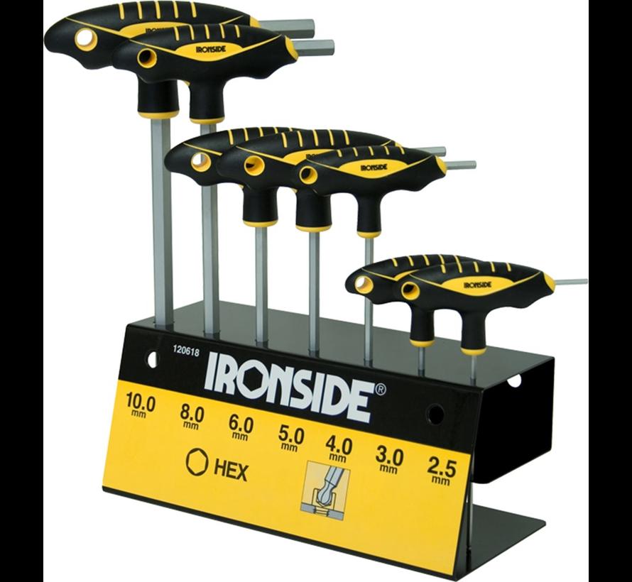 Ironside Inbussleutelste kogelkop met vouwhouder 9-delig 1.5 - 10 mm   - Copy