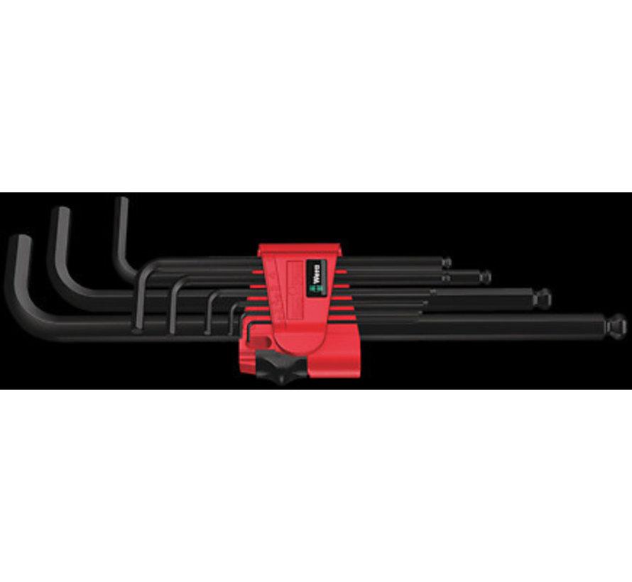 Wera stiftsleutelset inbus kogelkop lang 9-delig 1.5 - 10 mm