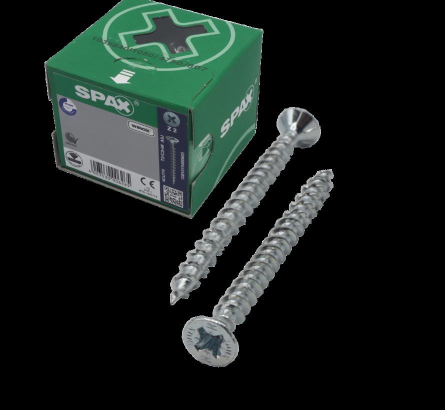 Spax®  WIROX spaanplaatschroef platkop PZ2 4.5X60MM