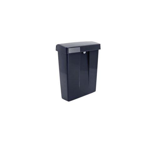 Intersteel Postkast Summus kuntstof + slot zwart RAL9005