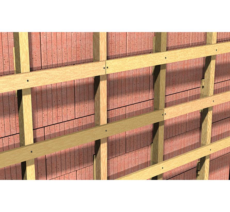 Fischer constuctieplug gegalvaniseerd zeskantkop SW13 10x140mm