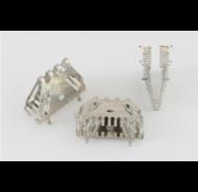 Stootvoegrooster Bijenbek rvs 10x50. 50 mm