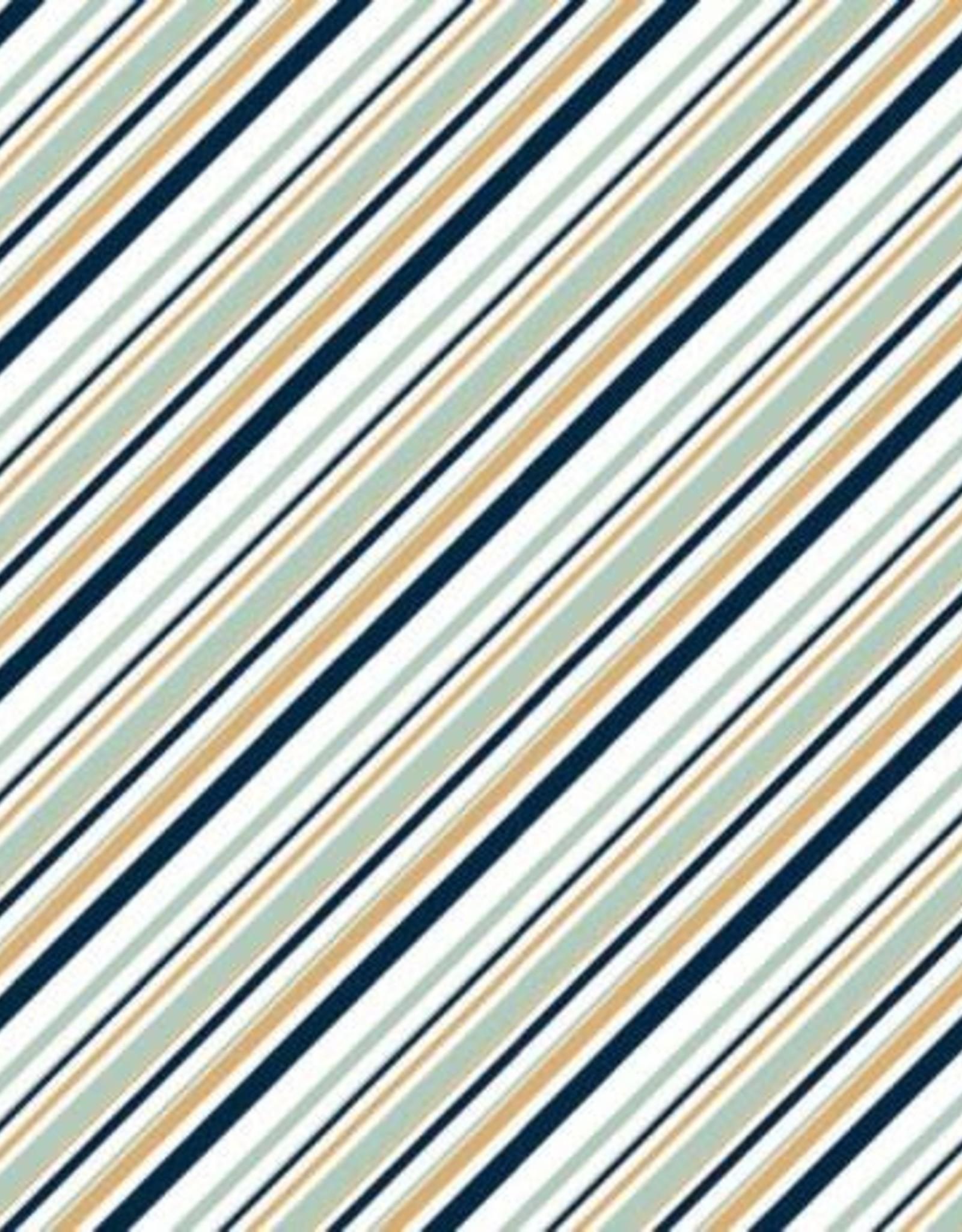 Organic cotton canvas diagonal stripes