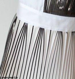 Lotte Martens Paneel Plissé wit zwart