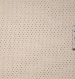 Wafelkatoen roze sterretjes