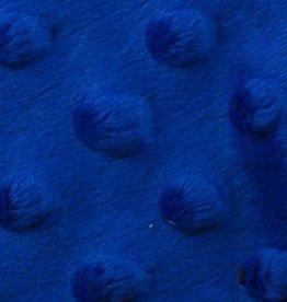 Minky fleece kobaltblauw