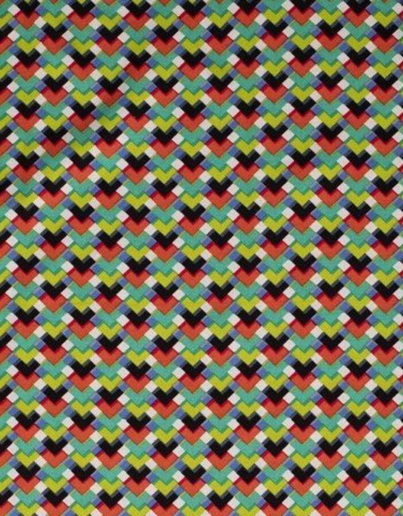 Linnen viscose Escher veelkleurig