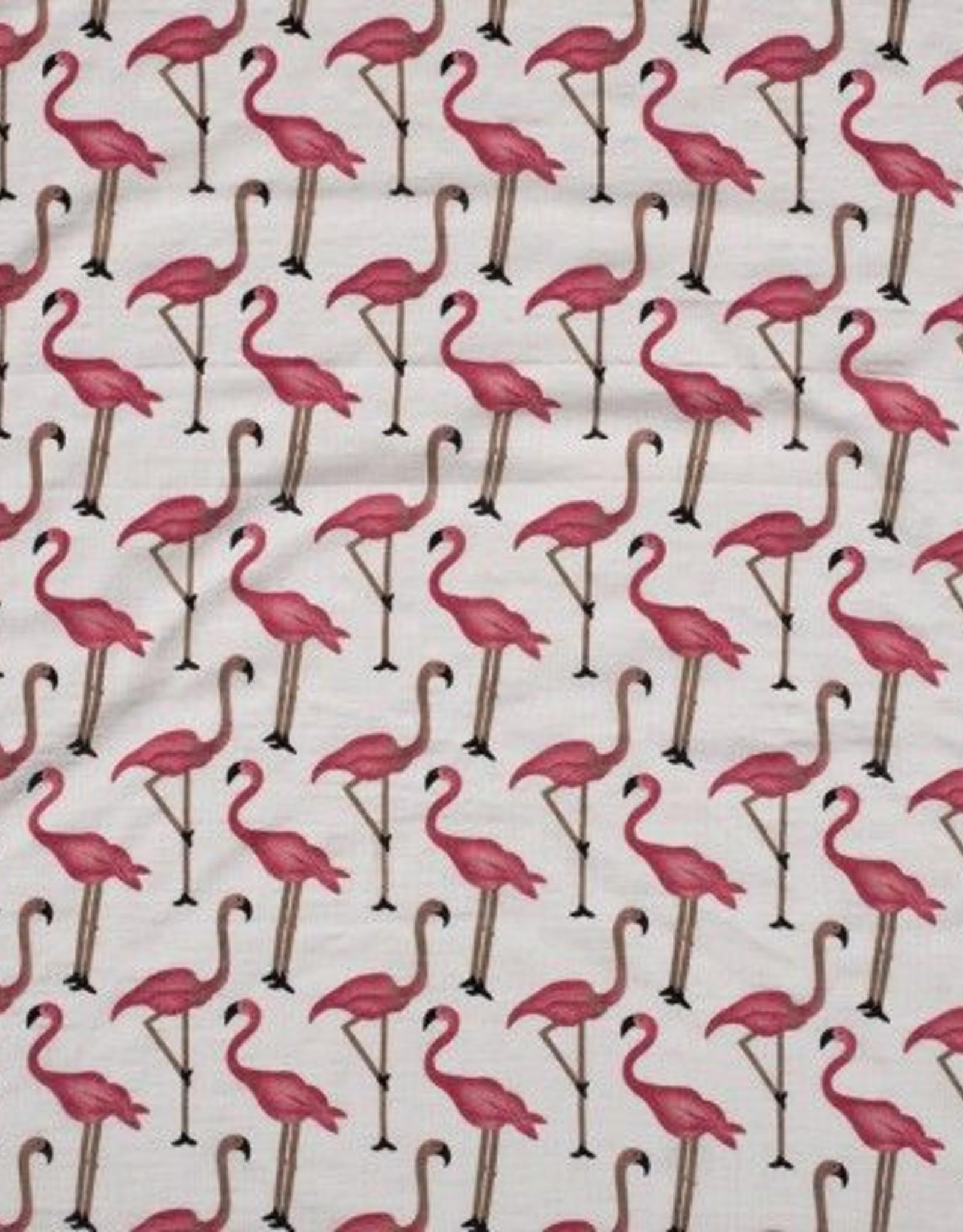 katoen viscose flamingo's