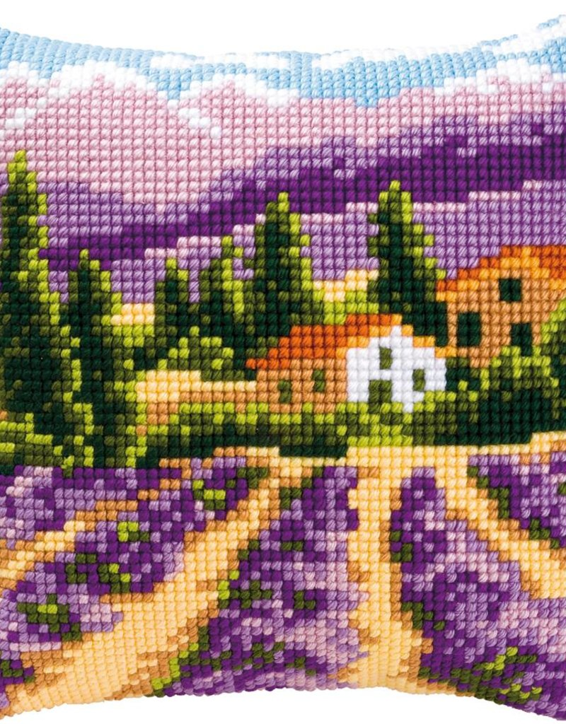 Kruissteekkussen kit Provence