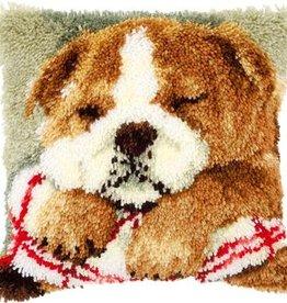 Knoopkussen kit Slapende bulldog