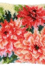 Knoopkussen kit Roze dahlia's