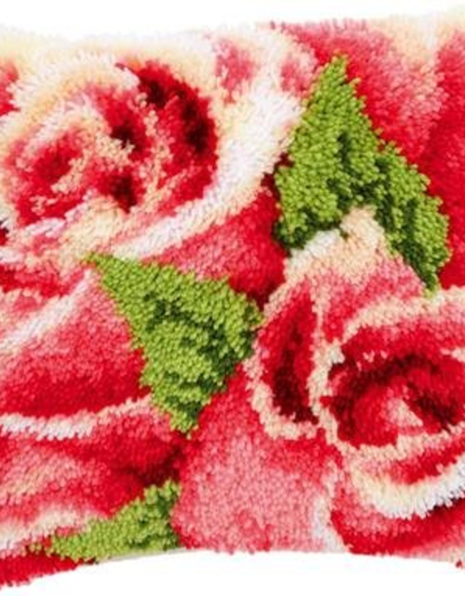 Knoopkussen kit Roze rozen met roosknop I