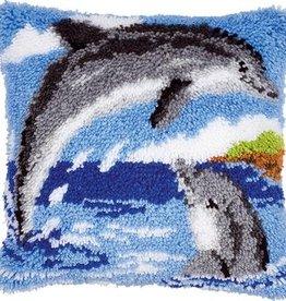 Knoopkussen kit 2 Dolfijnen