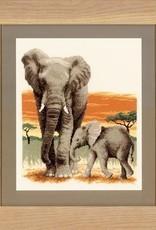 TP Olifanten op tocht telstof