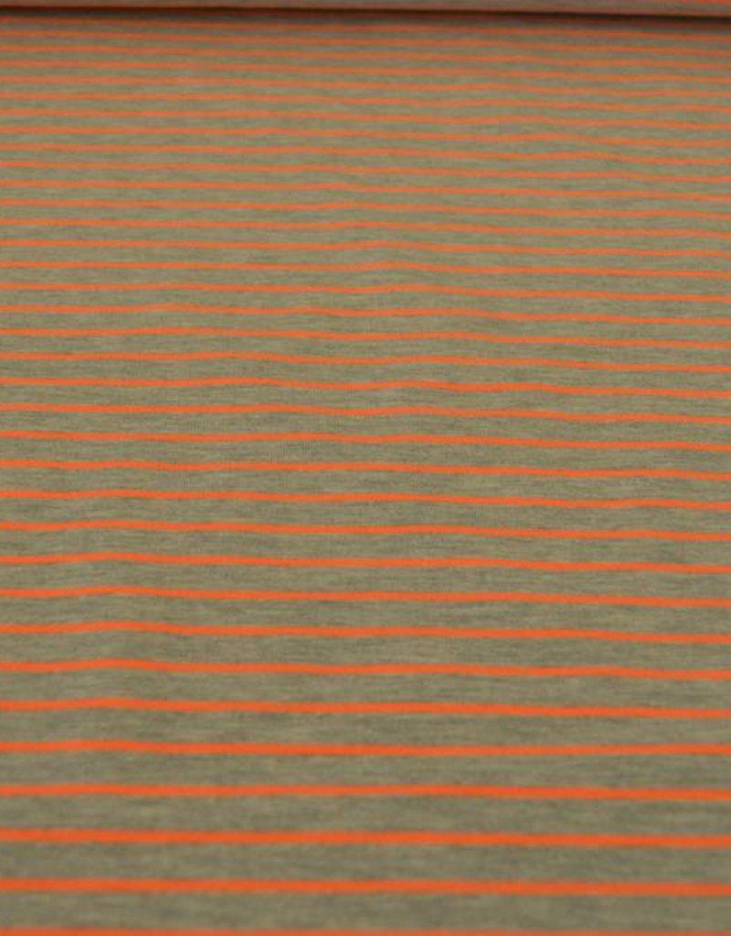 Fluo oranje gestreepte jersey