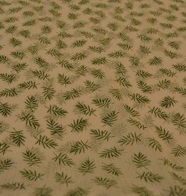 Groene blaadjes polyester