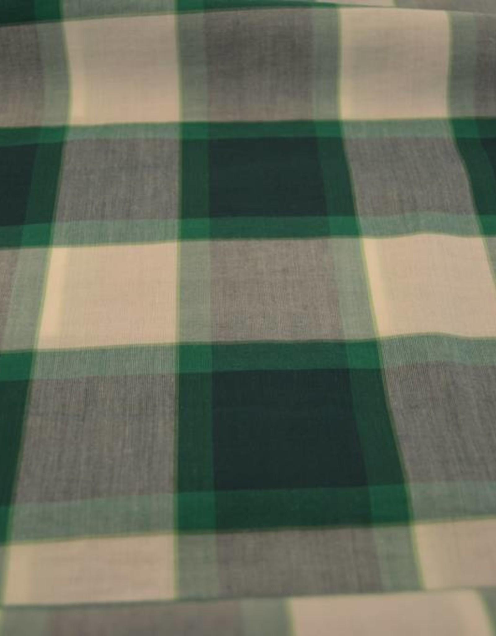 Groen geruit lichte katoen Fibre mood