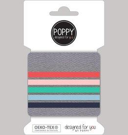 Poppy Poppy cuffs donkergrijs pastel kleuren
