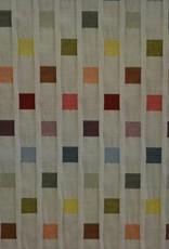 Double gauze met kleurrijke vierkantjes