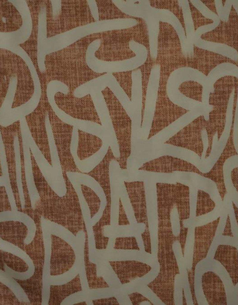 Elastische polyester met letters