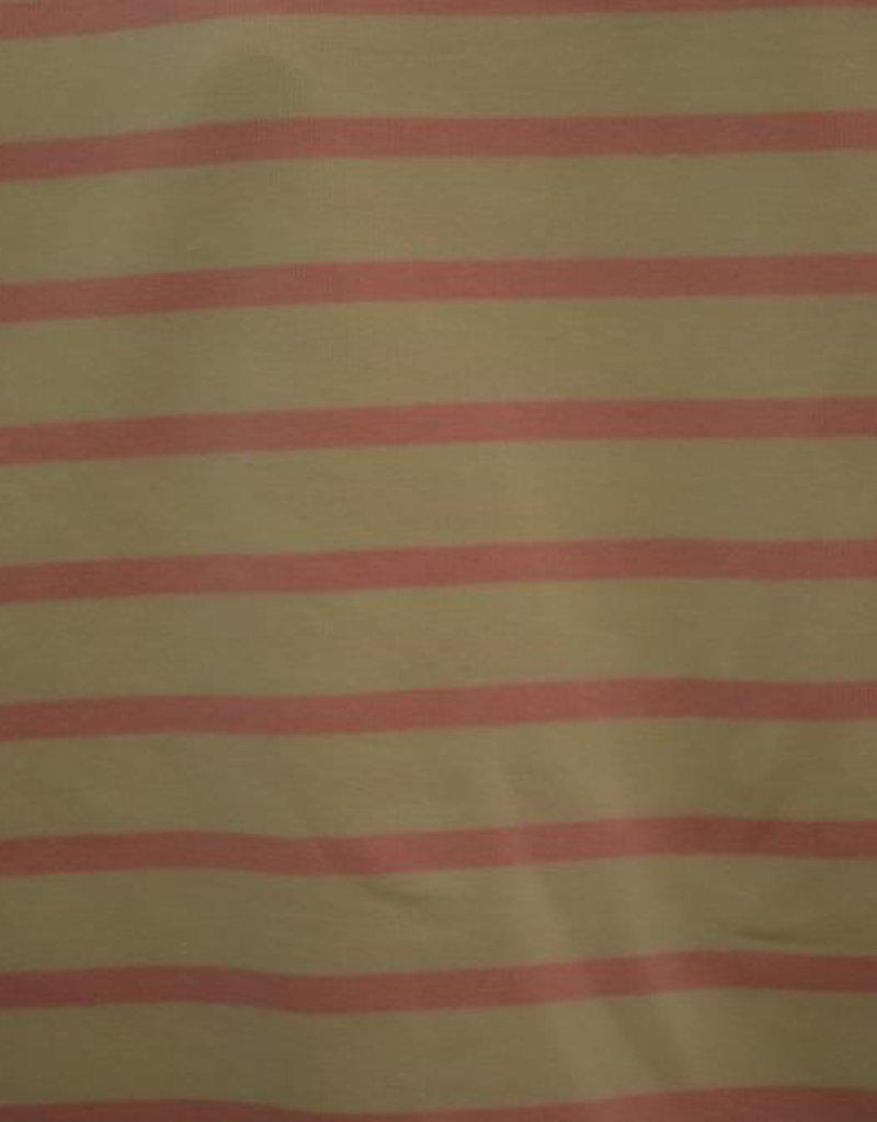 Gebreide tricot roze strepen