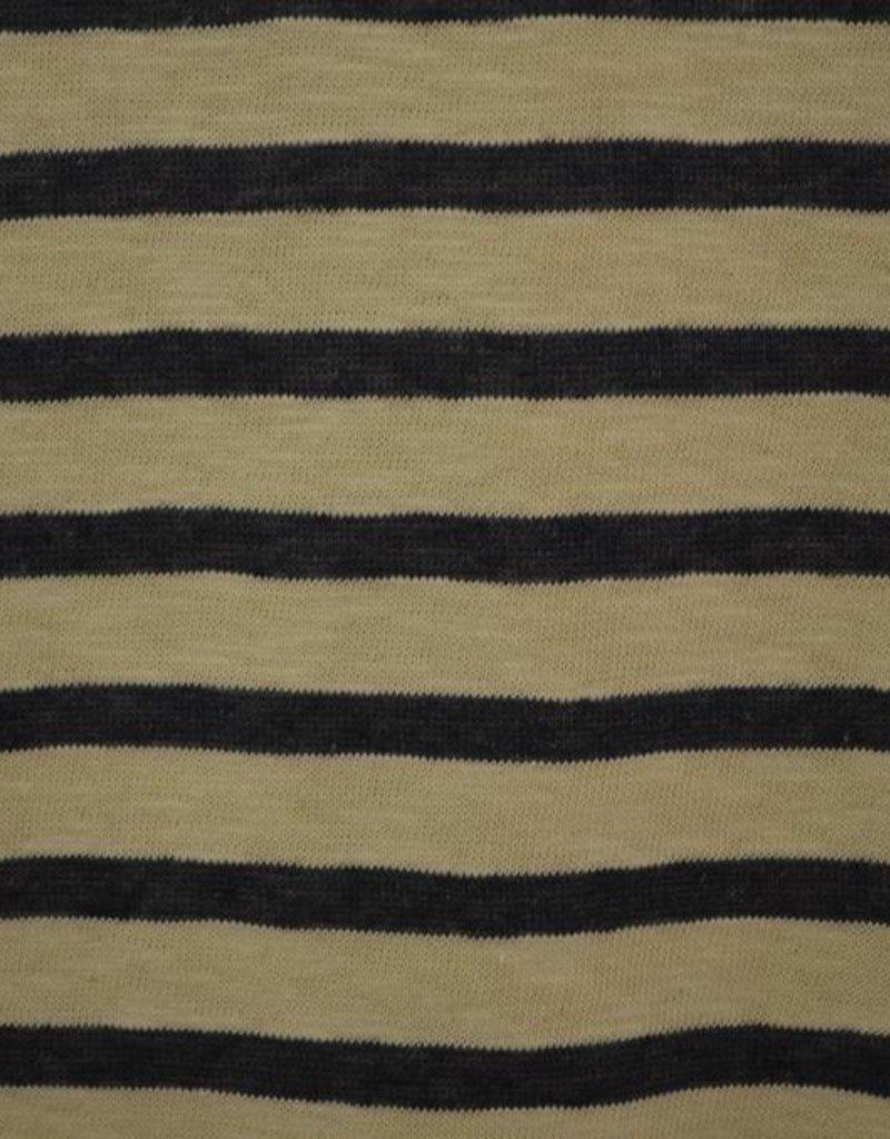 Gebreide tricot blauwe strepen