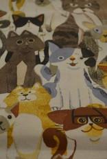 Katoen Cretonne katten