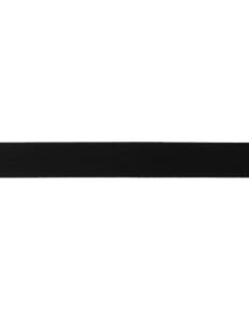 Biaisband uni mat zwart