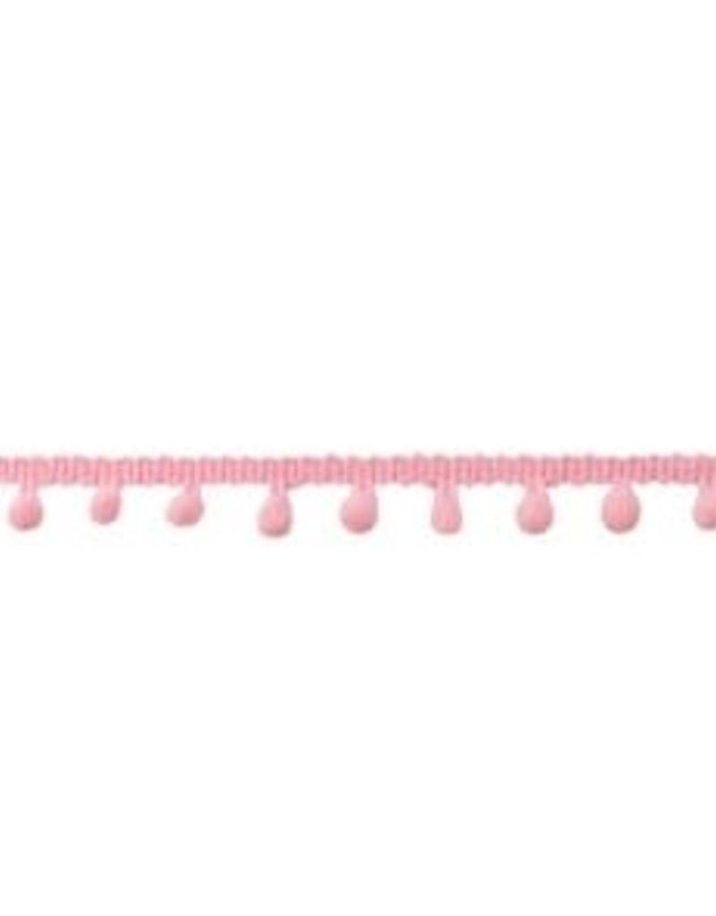Bolletjesband klein licht roze