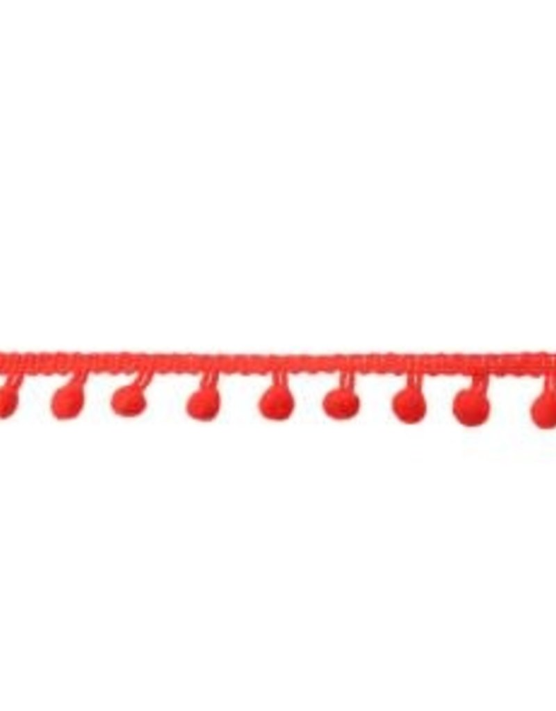 Bolletjesband klein rood