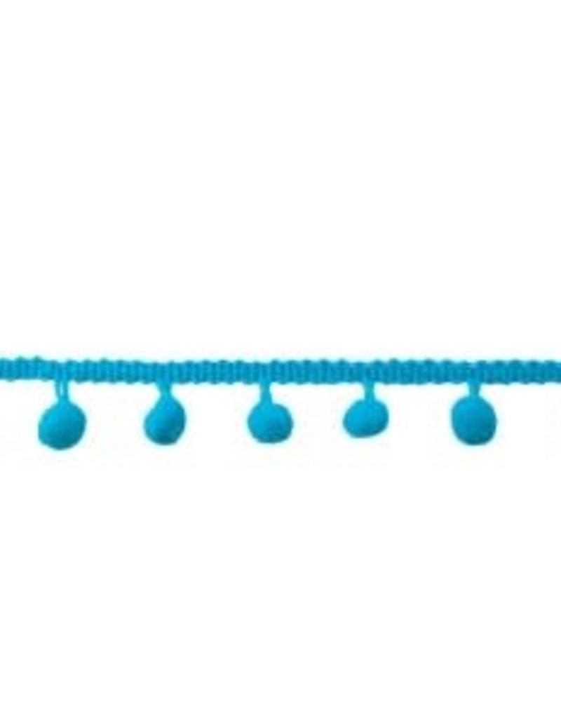 Bolletjesband middel aqua