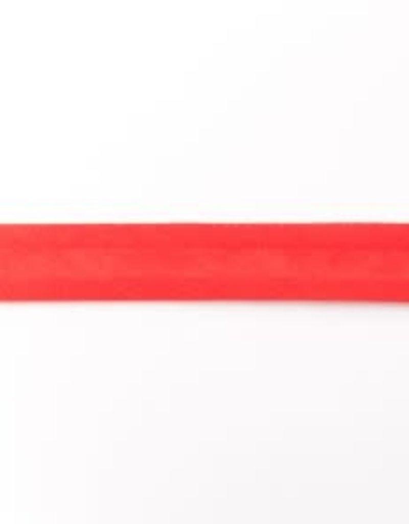 Biaisband Uni (20mm) Rood