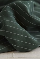 Meet Milk Tencel Pin stripe piqué deep green