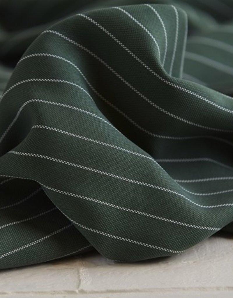 Meet Milk Tencel Pin stripe piqué deep green