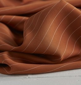Meet Milk Tencel Pin stripe twill roest
