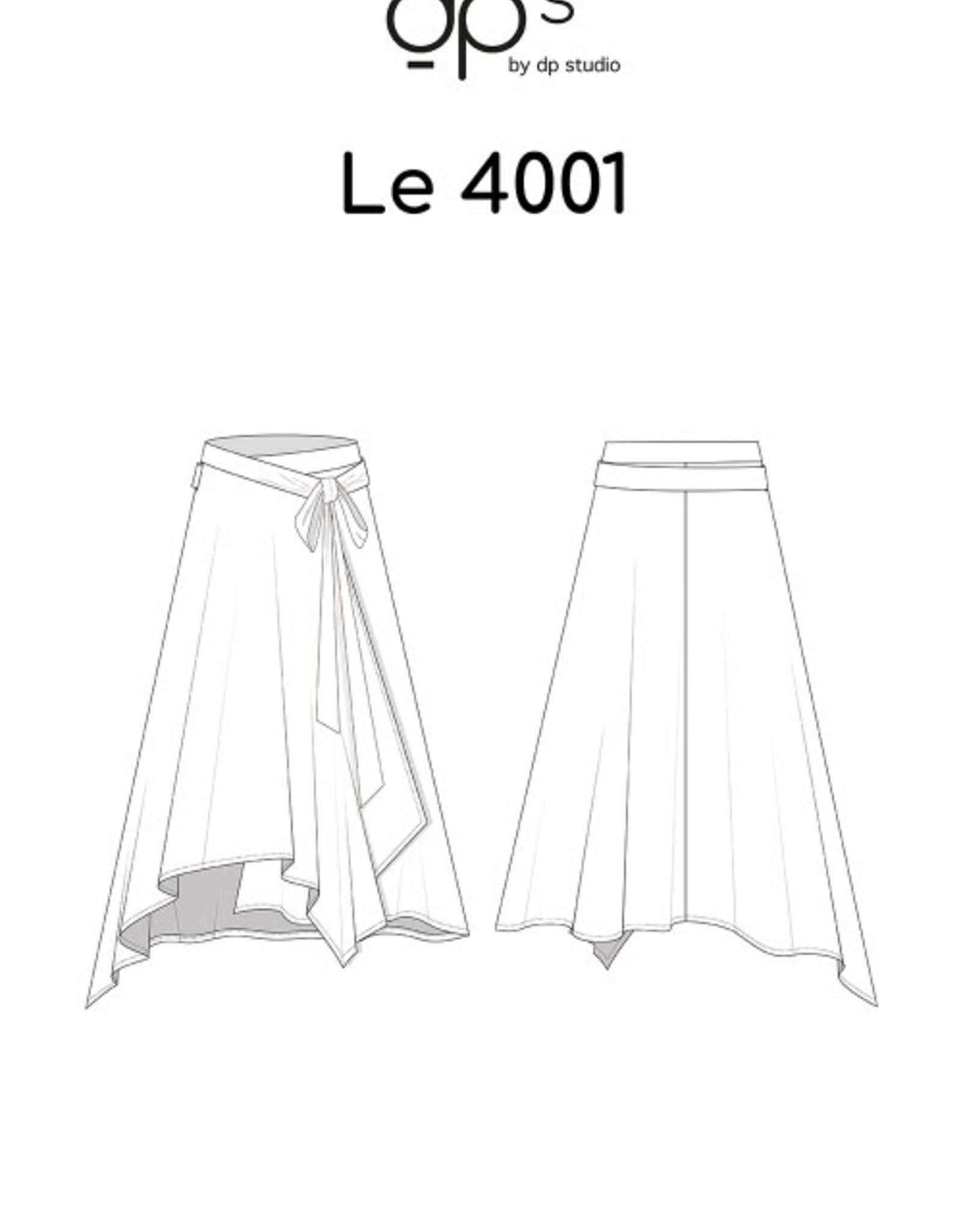 DP Studio Le 4001 Asymmetrische wikkeljurk met striklint