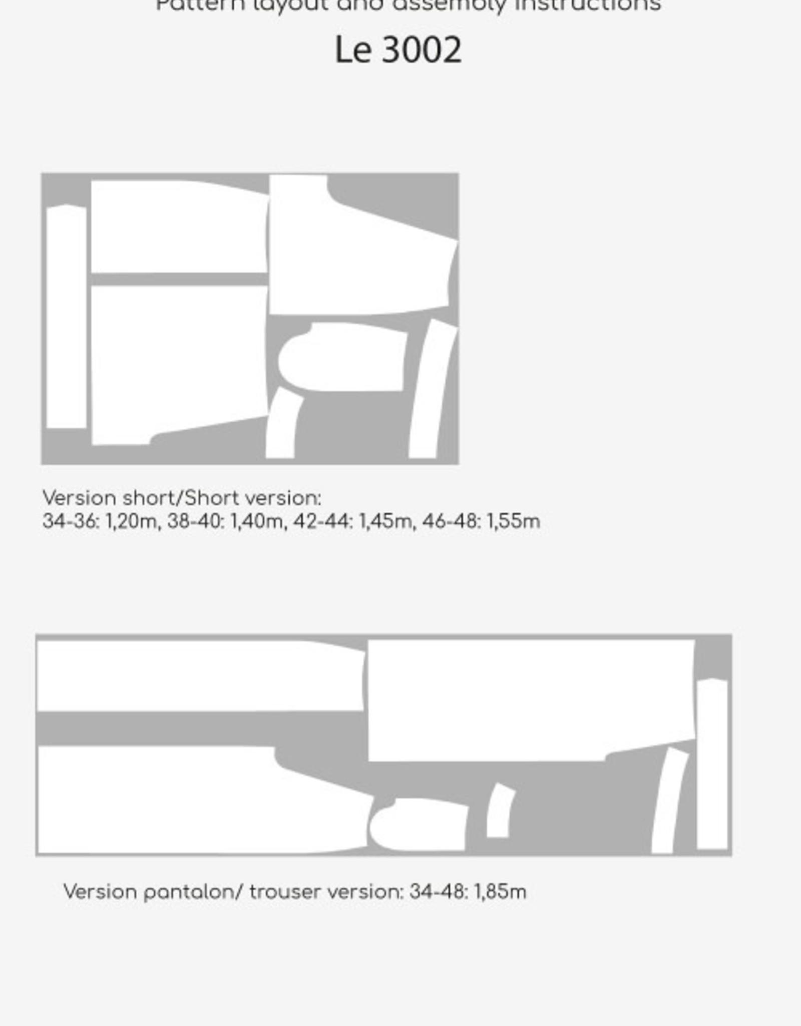 DP Studio Le 3002 Short/Broek met striklint en plooien