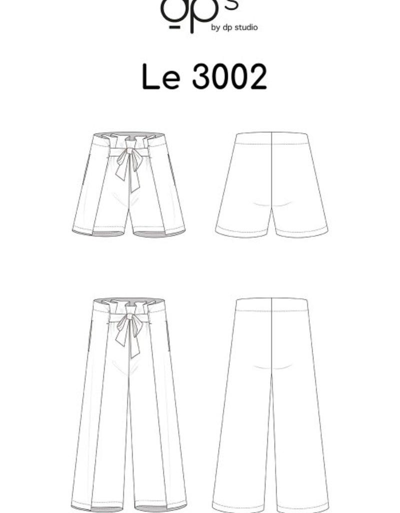 DP Studio Le 3002 Short/Broek met striplint en plooien