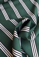 Groene viscose met strepen