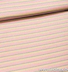 Gestreepte gebreide stof met lurex